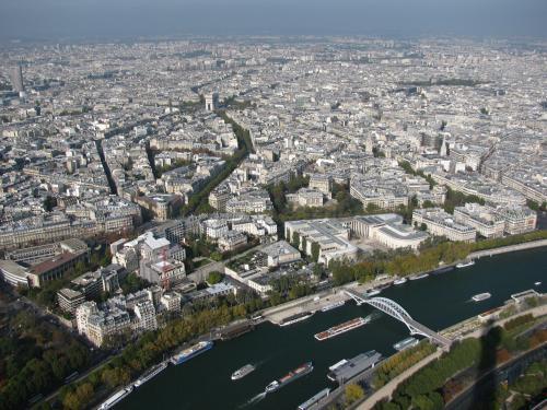 Paris, vu de la Tour Eiffel, Tour Eiffel